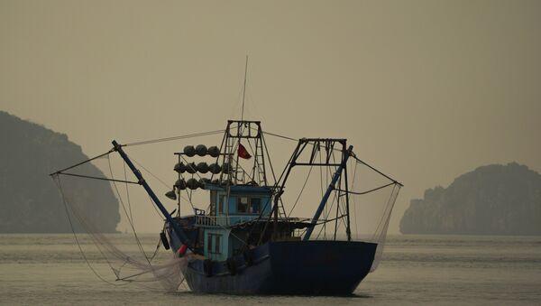 Рыбацкая лодка в заливе Халонг во Вьетнаме - Sputnik Việt Nam
