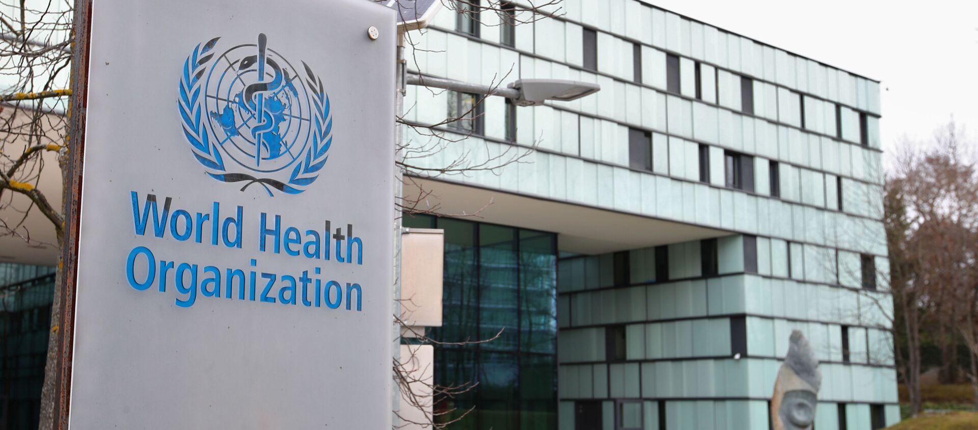 Biểu tượng của Tổ chức Y tế Thế giới tại tòa nhà của WHO ở Geneva, Thụy Sĩ - Sputnik Việt Nam, 1920, 13.08.2021