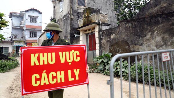Các chốt kiểm soát vòng trong do công an xã và thôn chịu trách nhiệm kiểm soát. - Sputnik Việt Nam