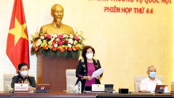 Chủ tịch Quốc hội Nguyễn Thị Kim Ngân phát biểu khai mạc. - Sputnik Việt Nam