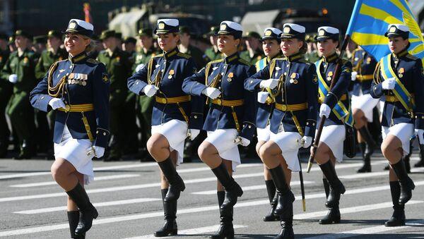 Các khối quân tại cuộc duyệt binh ở St. Petersburg kỷ niệm 73 năm Chiến thắng trong Chiến tranh Vệ quốc vĩ đại - Sputnik Việt Nam