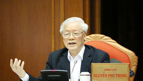 Tổng Bí thư, Chủ tịch nước Nguyễn Phú Trọng phát biểu chỉ đạo Hội nghị. - Sputnik Việt Nam