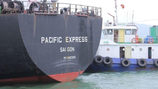 Tàu Pacific Express (Công ty TNHH MTV Vận tải biển Gemadept) đã đâm trúng tàu cá rồi rời khỏi hiện trường - Sputnik Việt Nam