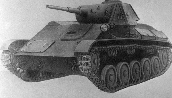 Phiên bản bức hoạ xe tăng hạng nhẹ T-70 từ bộ sưu tập của Bảo tàng Lực lượng Thiết giáp Liên Xô - Sputnik Việt Nam