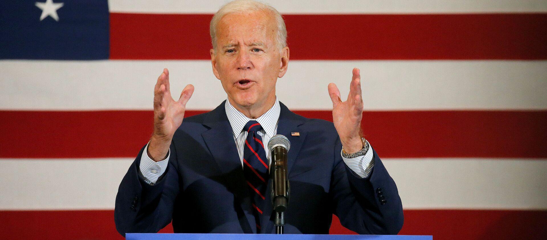 Ứng cử viên tổng thống Hoa Kỳ Joe Biden phát biểu như một phần của chiến dịch của mình - Sputnik Việt Nam, 1920, 02.05.2020