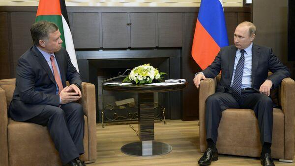 Tổng thống LB Nga V. Putin hội đàm với Quốc vương  Jordan Abdullah II - Sputnik Việt Nam