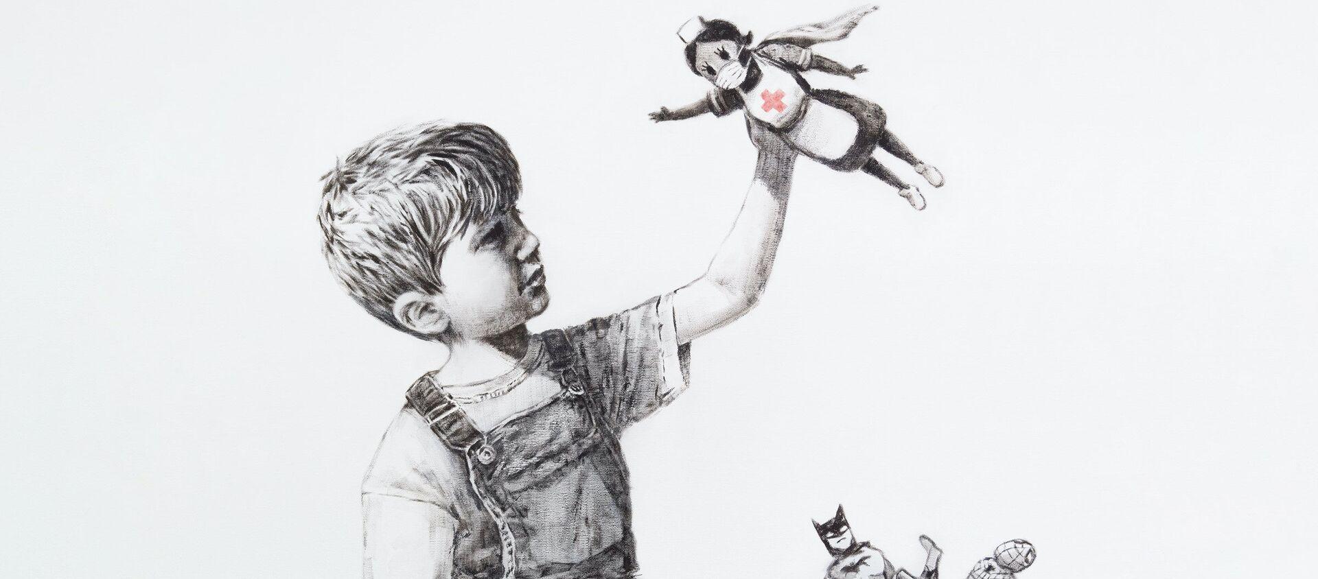 Tranh mới của Banksy - Sputnik Việt Nam, 1920, 07.05.2020