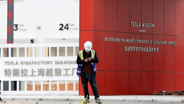 Nhà máy Tesla tại Thượng Hải, Trung Quốc - Sputnik Việt Nam