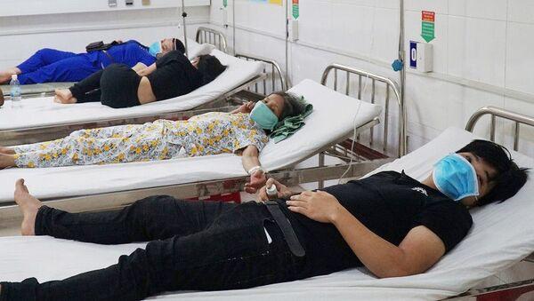 Người dân điều trị tại Trung tâm y tế huyện Hòa Vang trước đó - Sputnik Việt Nam