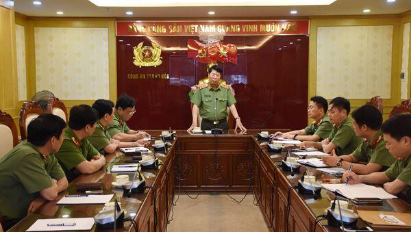 Thượng tướng Bùi Văn Nam, Thứ trưởng Bộ Công an làm việc với Công an tỉnh Thanh Hóa chiều ngày 18-5 - Sputnik Việt Nam