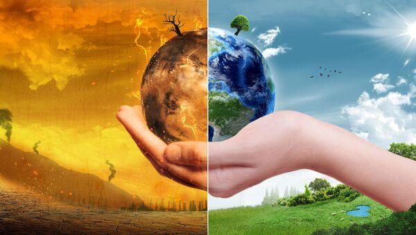 Trái đất trước và sau khi trái đất nóng lên. - Sputnik Việt Nam