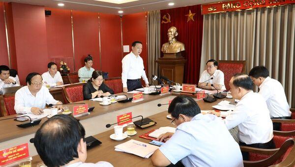 Bí thư Ban cán sự đảng, Bộ trưởng Bộ Tài nguyên và Môi trường Trần Hồng Hà phát biểu - Sputnik Việt Nam