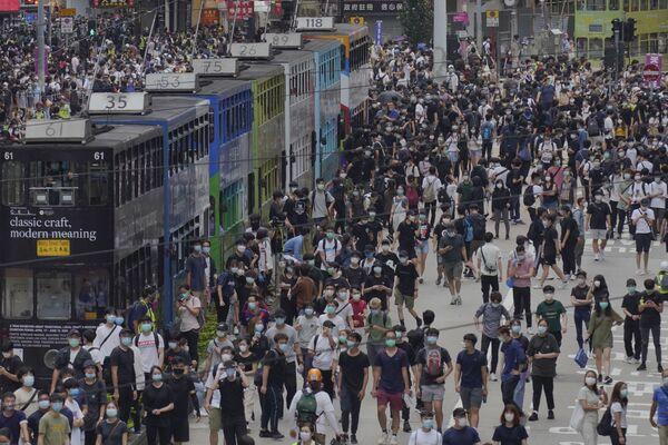 Biểu tình chống Chính phủ ở Hồng Kông - Sputnik Việt Nam