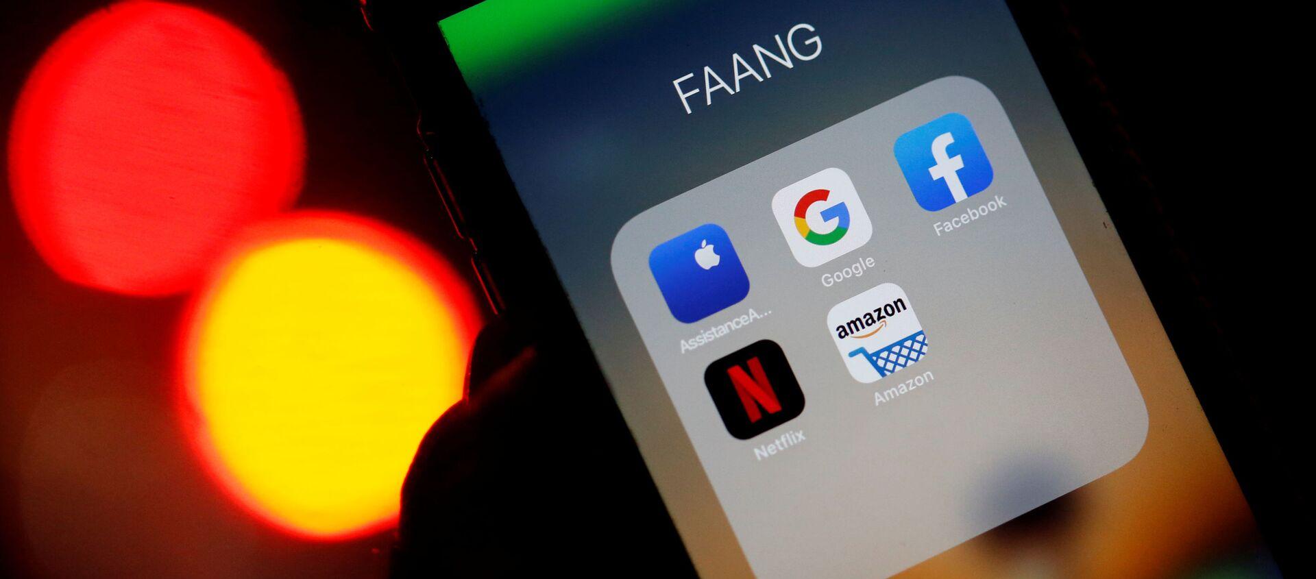 Google, Amazon, Facebook, Apple and Netflix. - Sputnik Việt Nam, 1920, 05.03.2021