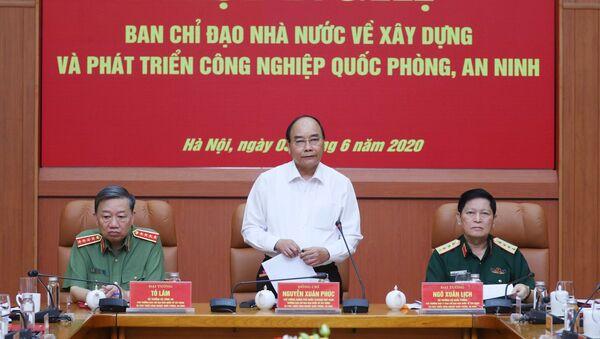 Thủ tướng Nguyễn Xuân Phúc, Trưởng Ban Chỉ đạo phát biểu. - Sputnik Việt Nam