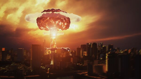 Kết xuất 3D của vụ nổ bom hạt nhân trên một thành phố - Sputnik Việt Nam