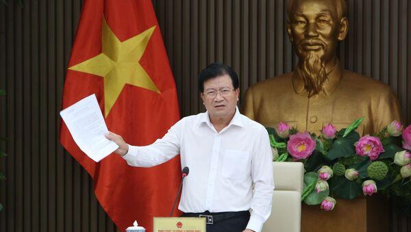 Phó Thủ tướng Trịnh Đình Dũng chủ trì cuộc họp phân vùng quy hoạch. - Sputnik Việt Nam