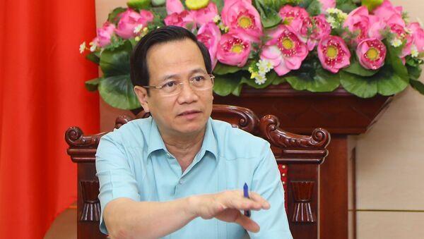 Bộ trưởng Bộ Lao động - Thương binh và Xã hội Đào Ngọc Dung phát biểu tại cuộc họp. - Sputnik Việt Nam