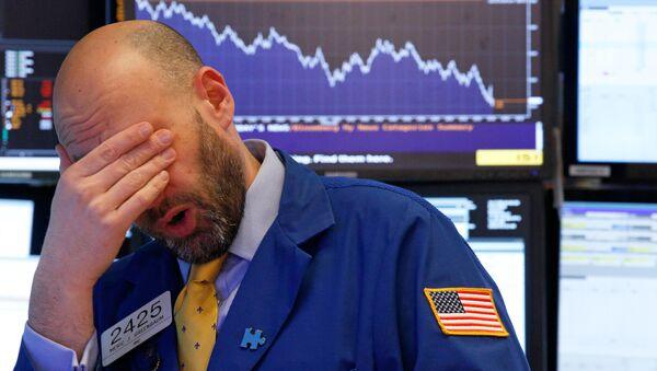 Nhà giao dịch cuối ngày trên thị trường chứng khoán New York - Sputnik Việt Nam