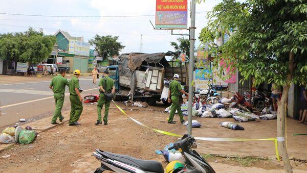 Cơ quan công an khám nghiệm hiện trường, điều tra làm rõ nguyên nhân vụ tai nạn - Sputnik Việt Nam