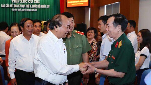 Thủ tướng Nguyễn Xuân Phúc với các đại biểu - Sputnik Việt Nam