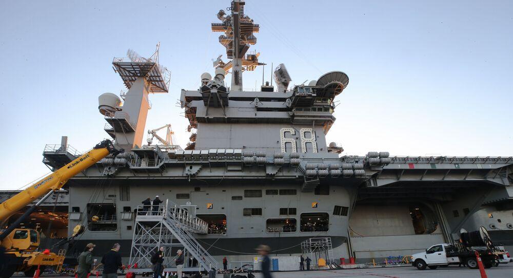 The USS Nimitz aircraft carrier in Coronado