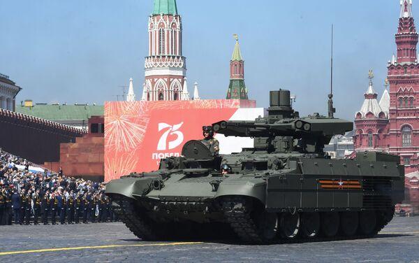 Chiếc xe chiến đấu bộ binh (BMPT) Terminator tại Cuộc diễu hành quân sự kỷ niệm 75 năm Chiến thắng ở Moskva - Sputnik Việt Nam