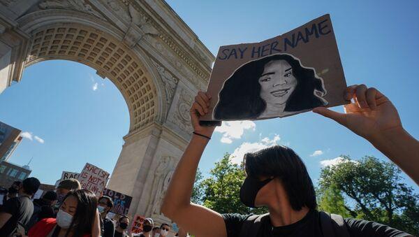 Người biểu tình trên đường phố ở New York - Sputnik Việt Nam