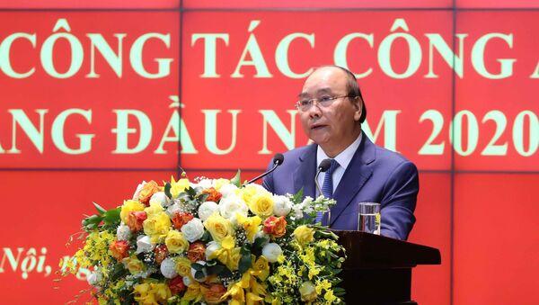 Thủ tướng Nguyễn Xuân Phúc phát biểu chỉ đạo hội nghị.  - Sputnik Việt Nam