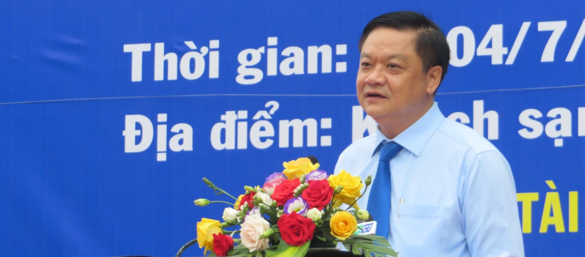 Ông Dương Tấn Hiển - Phó Chủ tịch UBND thành phố Cần Thơ phát biểu khai mạc Ngày hội - Sputnik Việt Nam, 1920, 04.07.2020