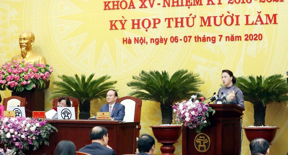 Chủ tịch Quốc hội Nguyễn Thị Kim Ngân phát biểu tại Kỳ họp.
