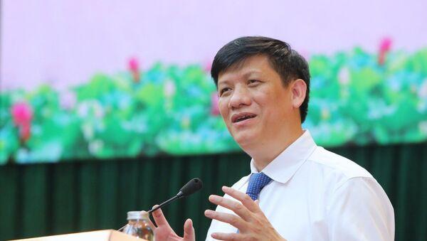 Thứ trưởng Bộ Y tế Nguyễn Thanh Long phát biểu tại buổi lễ. - Sputnik Việt Nam