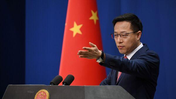 Phát ngôn viên Bộ Ngoại giao Trung Quốc Triệu Lập Kiên - Sputnik Việt Nam