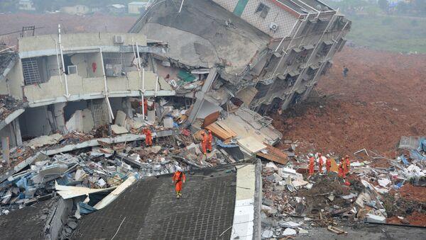 Vụ lở đất ở Trung Quốc - Sputnik Việt Nam