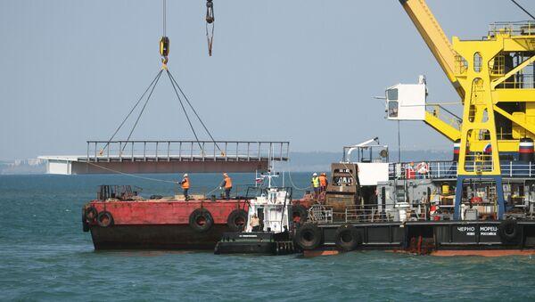Công tác chuẩn bị trước khi xây dựng cầu Kerch ở Taman - Sputnik Việt Nam
